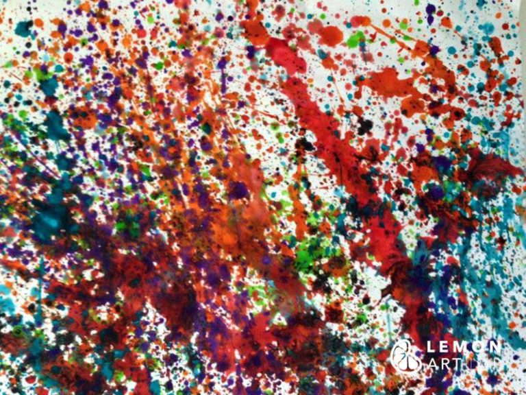 Manchas de pintura lanzada