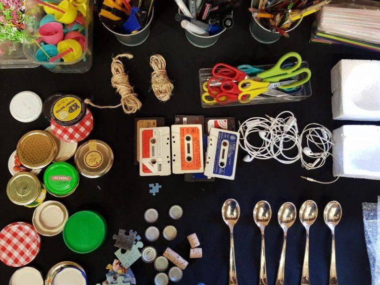 Taller de arte para niños con objetos cotidianos