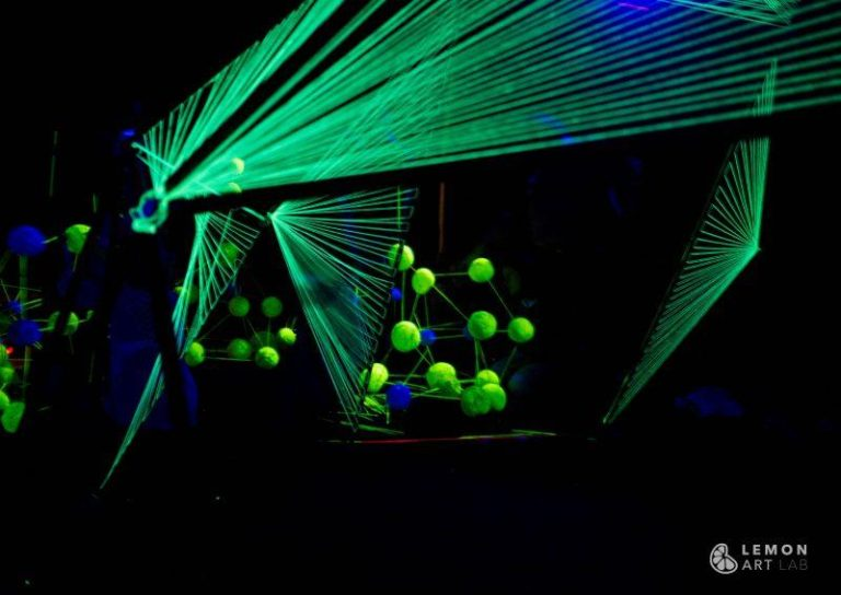 Instalación de luces láser