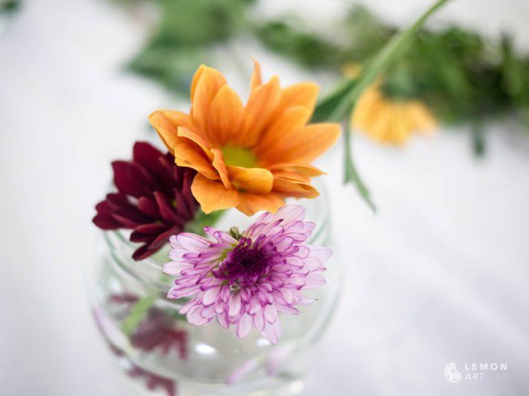 Flores naturales de colores variados