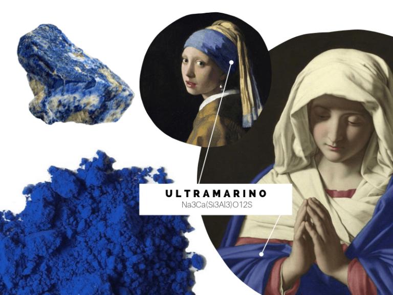 historia de los colores azul ultramarino