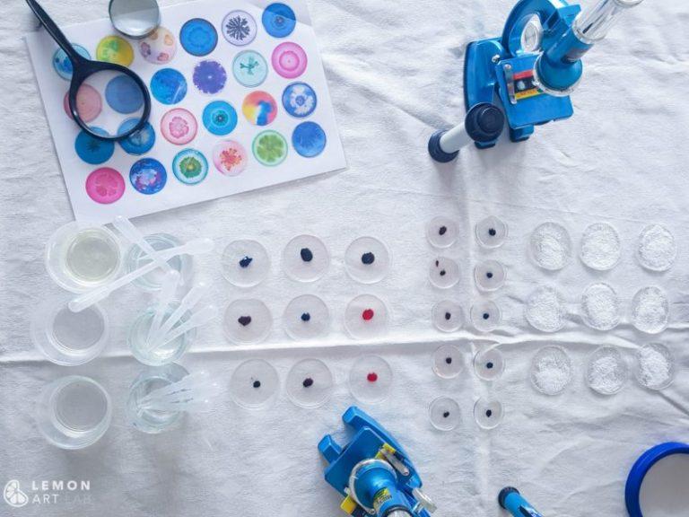 Arte con material de laboratorio
