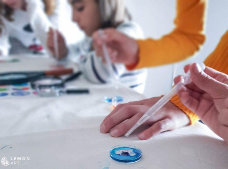 taller arte microscopico niños