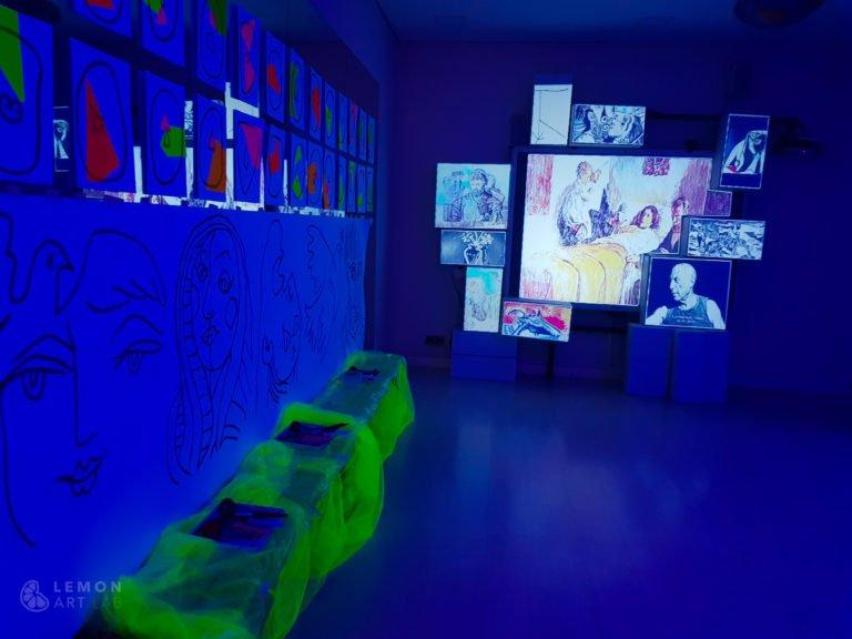 Instalación de juego artístico sobre Picasso