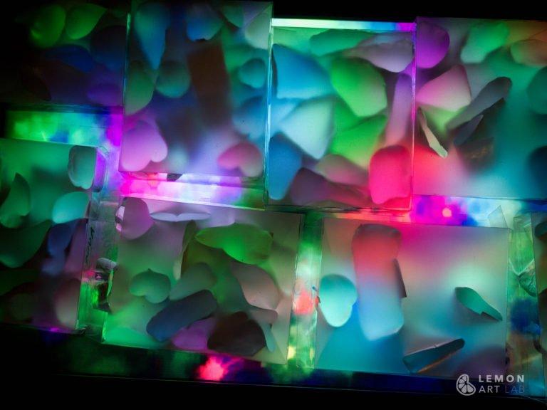 Efecto de luces hipnótico