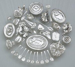 Piezas sueltas de plata