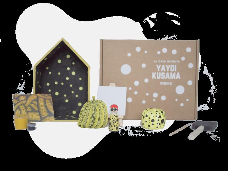 casa de muñecas inspirada en Yayoi Kusama