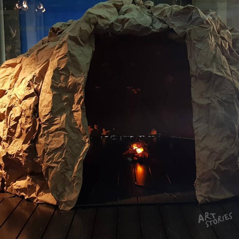 instalación de arte rupestre